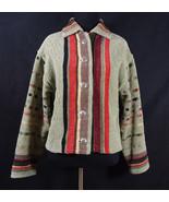 Gretel Underwood Santa Fe Handwoven Jacket Thick Sweater Unique Small/Me... - $199.95