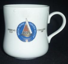 Vintage America's Cup Challenge 1987 Porcelain Mug Tasters Choice Sailing - $5.01