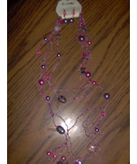 Pearl Ball, Seed Beads Necklace and Earrings Set  - $9.99
