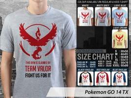 T Shirt Pokemon GO Team Valor Many Color & Design Option - $10.99+