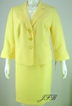 Evan Picone Yellow Jacket Blazer with Pockets S... - $64.34