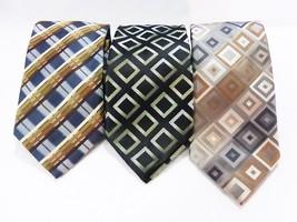 Alexander julian colours men's neck tie work tie geometric lot of 3 - $20.79