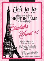 PRINTABLE Paris eiffel tower  invitation birthday baby shower personalized - £6.76 GBP