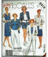 McCalls Sewing Pattern 2412 Misses Outfit Casual Work Size 20 22 24  - $9.89