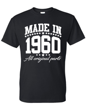 Made in 1960 all original parts  t shirt, birthday gift, born in 1960, m... - $12.50+
