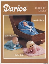 Crochet Dolls, Darice Pattern Leaflet 37555 Baby Bunting Body with Blank... - $4.95