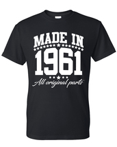 Made in 1961 all original parts t shirt, birthday gift, born in 1961, ma... - $12.50+