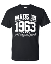 Made in 1963 all original parts t shirt, birthday gift, born in 1963, ma... - $12.50+