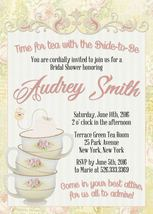 PRINTABLE Pink Vintage Tea Party invitation birthday personalized baby s... - $9.99