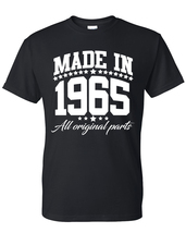 Made in 1965 all original parts t shirt, birthday gift, born in 1965, ma... - $12.50+