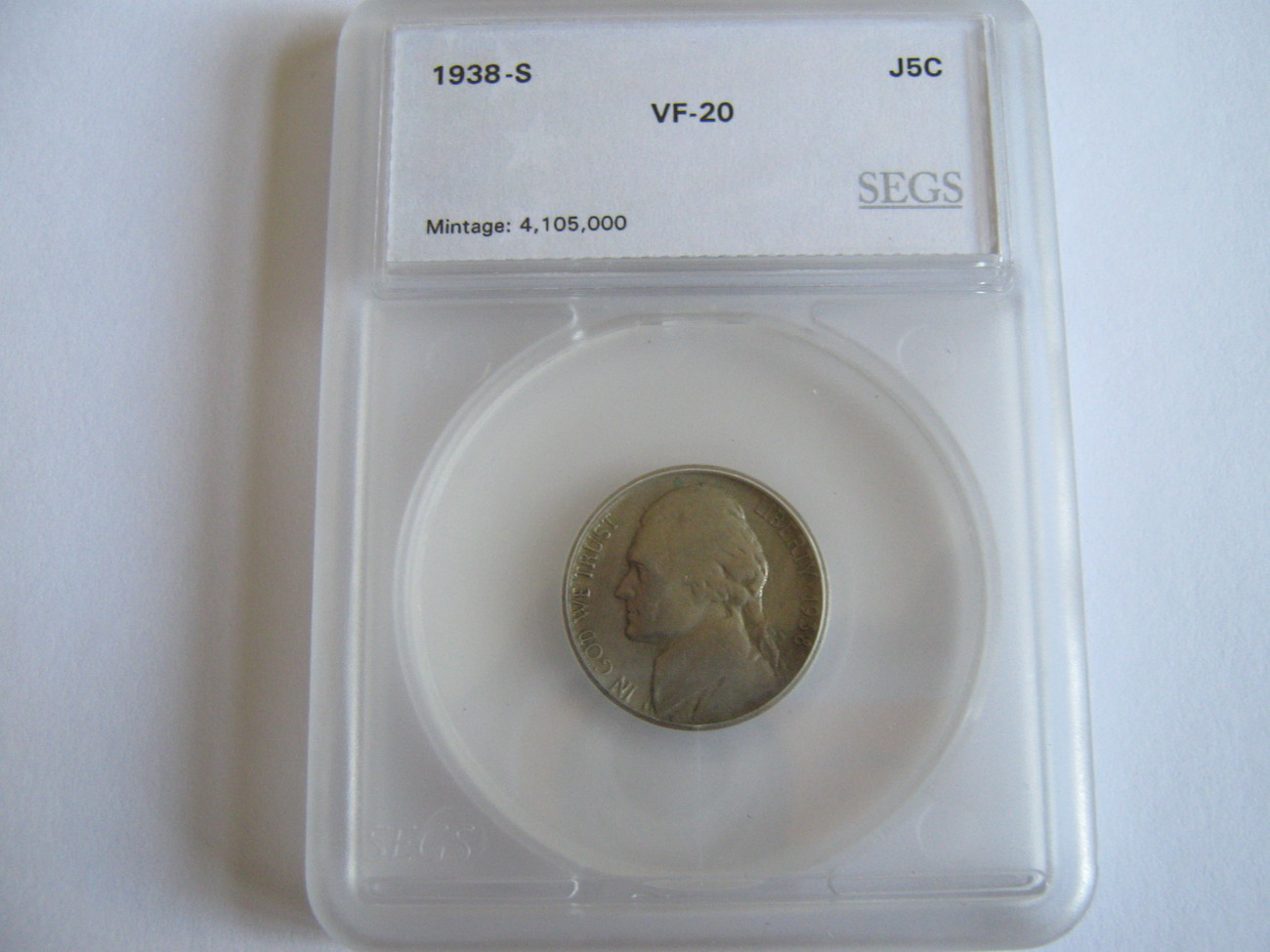 Jefferson Nickel , Lot of 2 , SEGS Certified