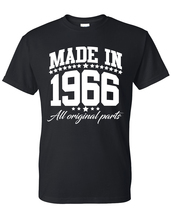 Made in 1966 all original parts  t shirt, birthday gift, born in 1966, m... - $12.50+