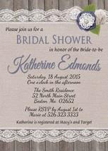 PRINTABLE Rustic Burlap Bridal Shower invitation, baby shower personalized - $9.99