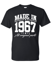 Made in 1967 all original parts  t shirt, birthday gift, born in 1967, m... - $12.50+