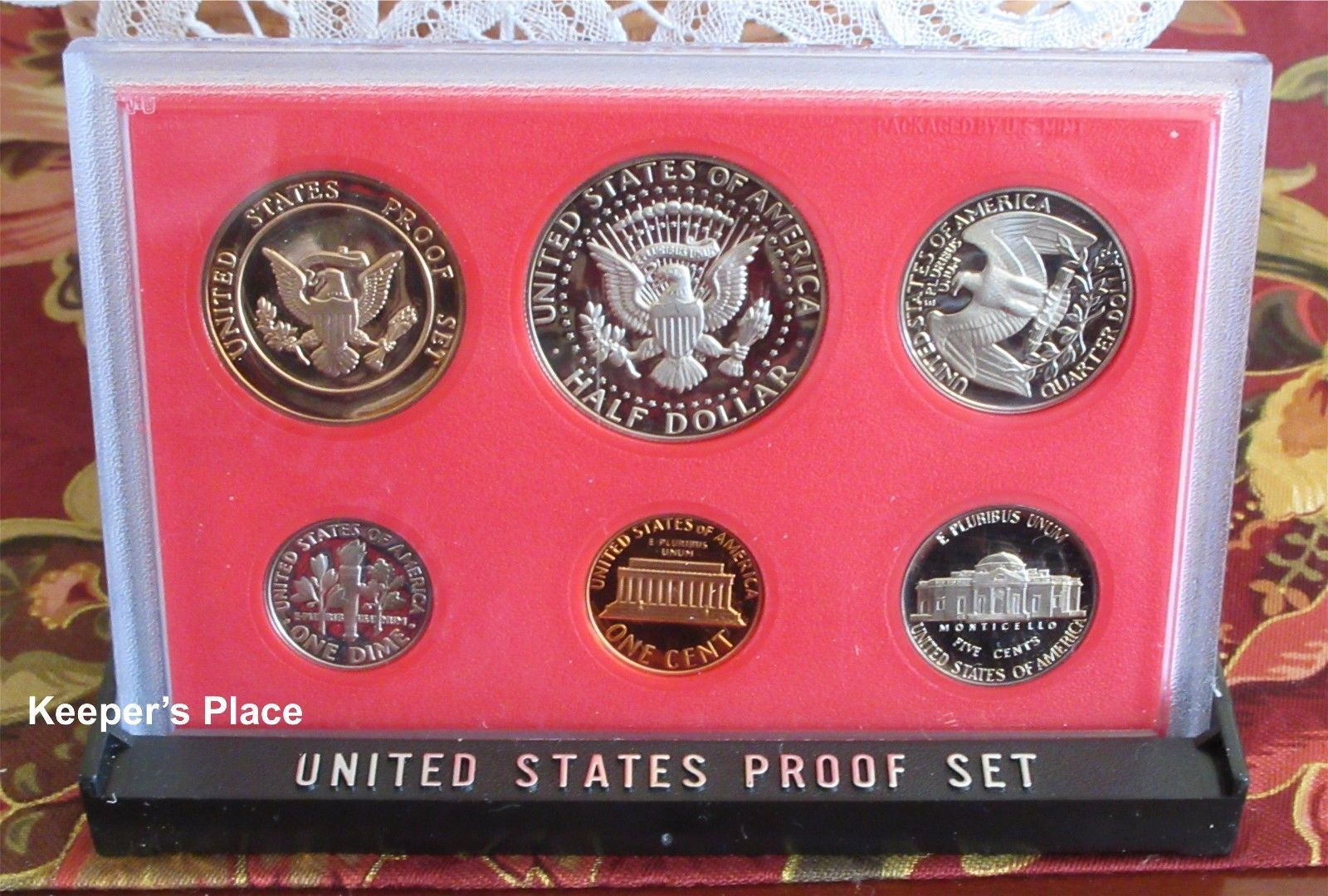 1982 U.S. Proof Coin Set Sealed In Plastic Case With Cardboard Sleeve Free Ship