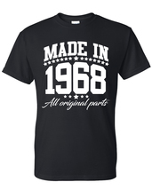 Made in 1968 all original parts  t shirt, birthday gift, born in 1968, m... - $12.50+