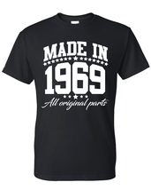 Made in 1969 all original parts  t shirt, birthday gift, born in 1969, m... - $12.50+
