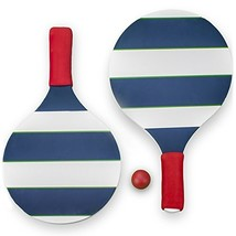 Striped Paddle Ball Set - Comes with Carrying Case, Two Paddles, and One... - $17.38