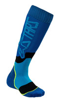 Alpinestars Adult MX Plus-2 Socks Blue/Cyan Youth - $14.95