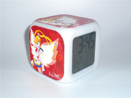 New Led Alarm Clock Sailor Moon Usagi Red Creative Clock Digital Alarm C... - $19.99