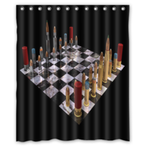 Bullet Chess #01 Shower Curtain Waterproof Made From Polyester - $29.07+