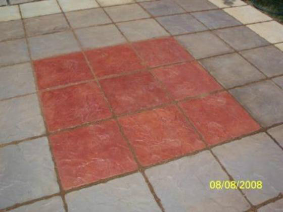 18x18 Concrete Slate Texture Stone Mold for Steppingstone Pavers For Patio Paths