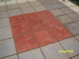 18x18 Concrete Slate Texture Stone Mold for Steppingstone Pavers For Patio Paths image 2