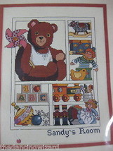 Pin Wheel Teddy Sealed Counted Cross Stitch Kit Bucilla Heather King 11x14 - $23.77