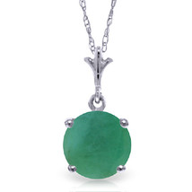 "1.65 CTW 14K Solid White gold fine Happy Year Emerald Necklace 16-24"" - $151.71+"
