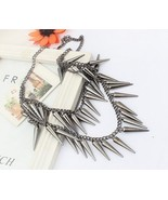 Layered Punk Style Rivets Collar Necklace - $8.99