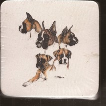Animal Creations Coasters Boxer Dog images Sealed Brand New - $3.95