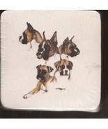 Animal Creations Coasters Boxer Dog images Sealed Brand New - $3.95