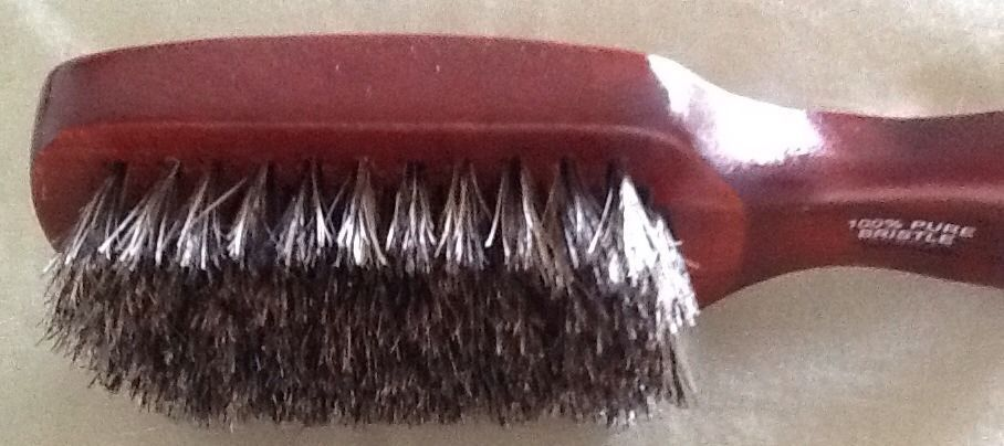 Very Soft  Mens club Natural Bristles set in sustainable wood Hair Brush
