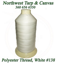Thread, Polyester Size DB-138, White, Coats Bonded Polyester Thread-16 oz - $51.83
