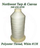 Thread, Polyester Size DB-138, White, Coats Bonded Polyester Thread-16 oz - $51.83