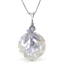 "5.32 CTW 14K Solid White gold fine Necklace 16-24"" genuine White Topaz Diamond - $189.94+"
