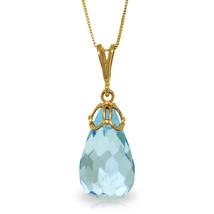 "10.25 CTW 14K Solid gold fine Hidden Charm Blue Topaz Necklace 16-24"" - $125.27+"