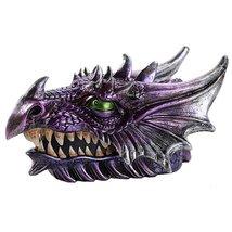 Medieval Fantasy Ferocious Mythical Dragon Head Treasure Trinket Box - $19.56