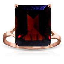 Brand New 7 Carat 14K Solid Rose Gold Ring Natural Octagon Garnet - £256.88 GBP