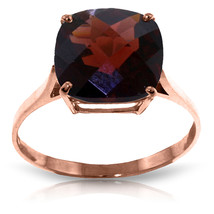 Brand New 4.5 Carat 14K   Rose Gold Ring Natural Checkerboard Cut Garnet - £248.36 GBP