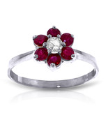 Brand New 0.5 ct 14K White Gold Ruby Natural Diamond Ring - $294.72