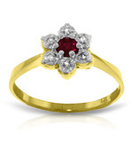 Brand New 0.23 CT 14K Solid Gold Ruby Natural Diamond Ring - $212.10