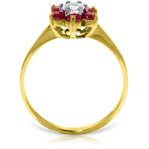 Brand New 0.5 CT 14K Solid Gold Ruby Natural Diamond Ring - $289.72