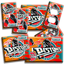 Detroit Pistons Basketball Team Light Switch Outlet Wall Plate Cover Dp Man Cave - $9.99+