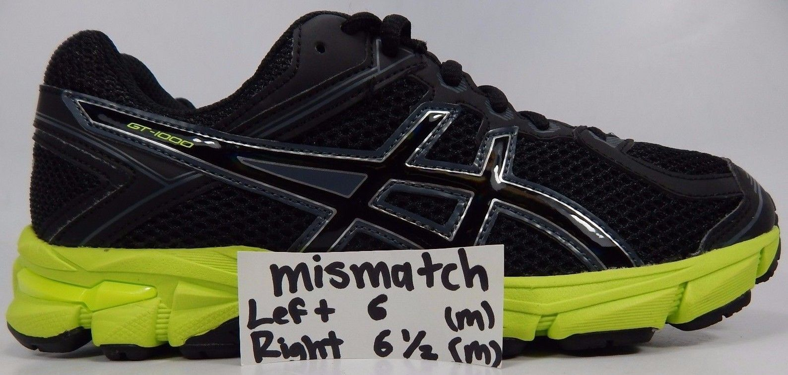 MISMATCH Asics GT 1000 Youth Girls Running Shoes Size US 6 Y LEFT 6.5 Y RIGHT