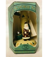 Brown Bag Cookie Stamp Folk Santa With Box and Recipe Booklet 1995 #12 V... - $14.84