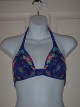 Size XS Victorias Secret Bikini Top Purple Floral Halter  - $23.12