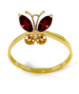 Brand New 0.6 CTW 14K Solid Gold Butterfly Ring Garnet Citrine - $199.76
