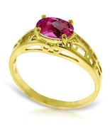 Brand New 1.15 Carat 14K Solid Gold Filigree Ring Natural Pink Topaz - $223.11