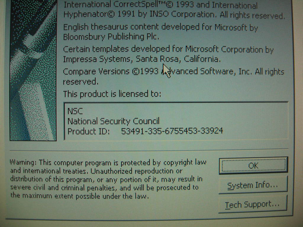 100% Complete WHSSS NSC Dell XPi Laptop from Bill Hillary Clinton White House WW